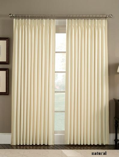 Crosby Natural Pinch Pleated Drape