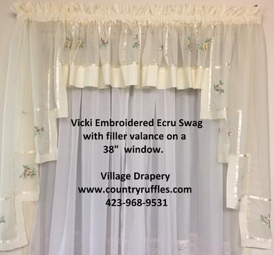 Vicki Embroidered Sheer